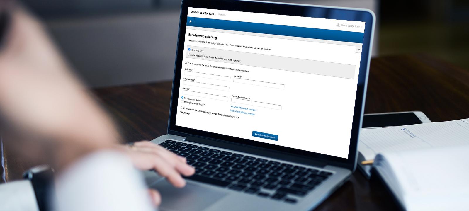 Um das System nutzen zu können, ist die Registrierung mit einer gültigen E-Mail-Adresse notwendig.