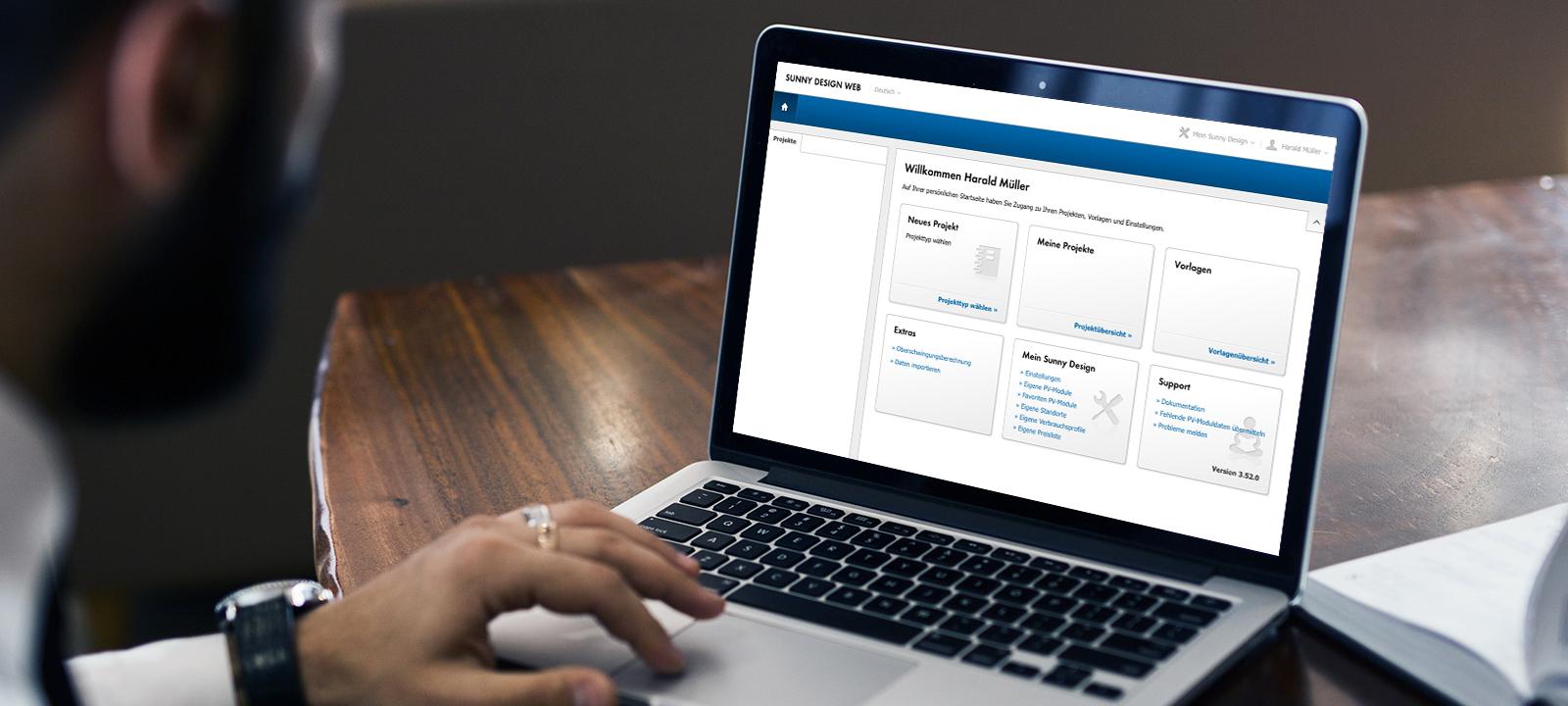 Im Nutzerbereich werden alle Projekte gespeichert und stehen zur weiteren Bearbeitung zur Verfügung. Vorlagen erleichtern die Anlage neuer Projekte.