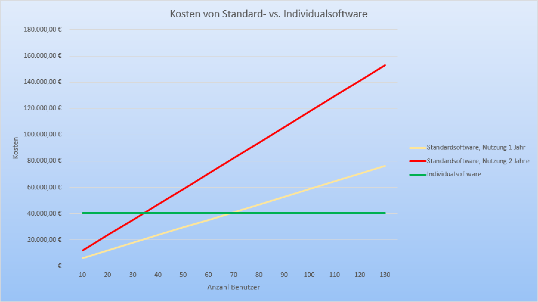 Kosten von Standard- vs. Individualsoftware